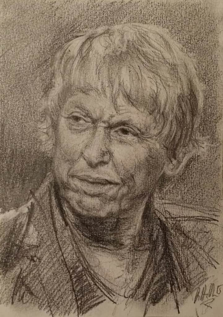 Thomas Von Brømssen, portrett, tegning, drawing, portrait, petteruren.com